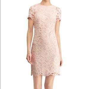 Ralph Lauren Blush Lace Sheath Dress
